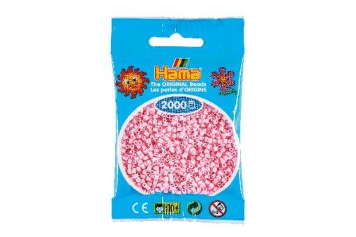 Hama mini perler / 2000 stk, pastel rosa