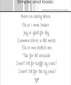 Stempel / Danske tekster / Simple & Basic
