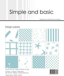 Design papir 15x15 / Mint / Simple and Basic