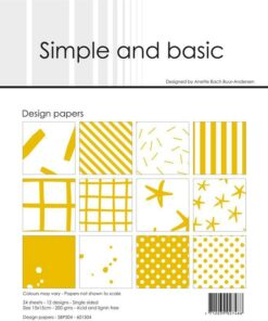 Design papir 15x15 / Mustard / Simple and Basic