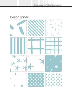 Design papir 15x15 cm / Mint / Simple and Basic