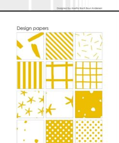 Design papir 10x21 cm / Mustard / Simple and Basic