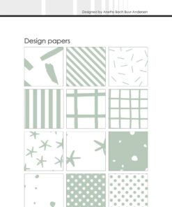 Design papir 10x21 cm / Sage / Simple and Basic