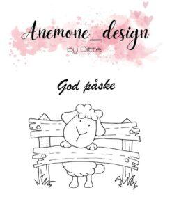 Stempel / God Påske / Anemone Design
