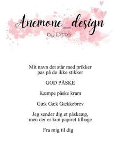 Stempel / Påske tekster / Anemone Design