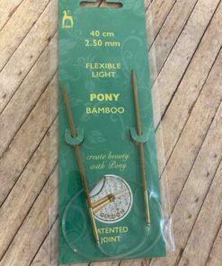Rundpind 2,50 mm, 40 cm / Pony Bamboo