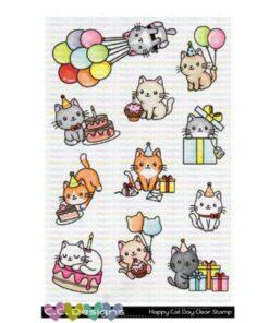 Stempel / Happy cat day / C.C Design