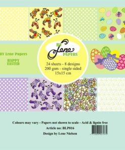 Karton 15x15 cm / Happy easter / By Lene