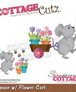 Dies / Mus med blomster / Cottage Cutz