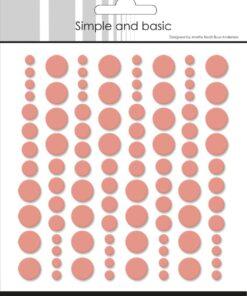 Enamel dots / Fresh peach / Simple and Basic