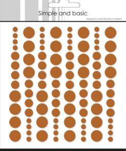 Enamel dots / Cognac / Simple and Basic