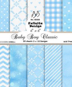 Karton 15x15 cm / Baby boy / Felicita Design