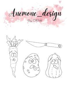 Stempel / Grøntsager / Anemone Design
