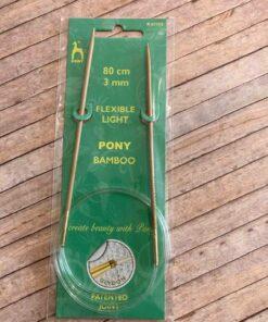 Rundpind 3 mm, 80 cm / Pony Bamboo