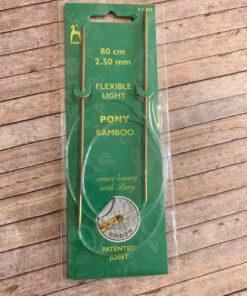 Rundpind 2,50 mm, 80 cm / Pony Bamboo