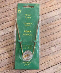 Rundpind 3 mm, 40 cm / Pony Bamboo