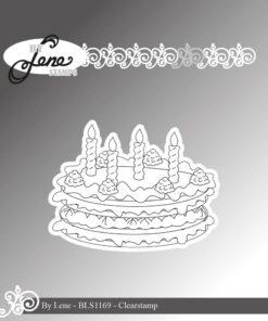 Stempel / Birthday cake / By Lene