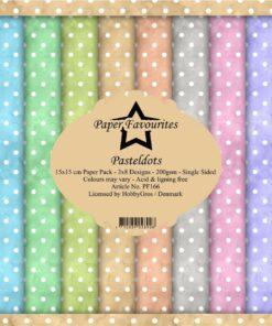 Karton 15 x 15 cm / Pastel dots / Paper favourites