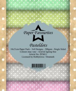 Karton slimcard / Pastel dots / Paper favourite