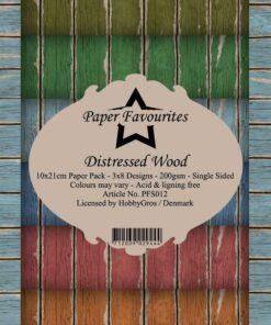 Karton slimcard / Distressed wood / Paper favourites