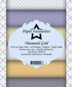 Karton slimcard / Diamond grid / Paper favourite