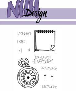 Stempel / Dag & tid / NHH Design