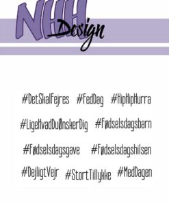 Stempel / Hashtag fødselsdag / NHH Design