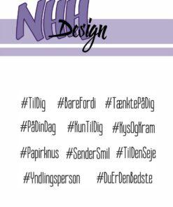 Stempel / Hashtag hilsner / NHH Design