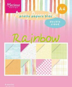 Karton A4 / Rainbow / Marianne Design