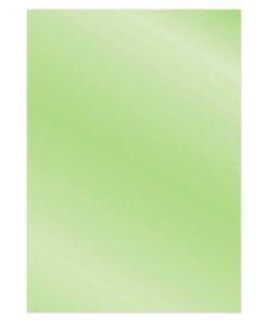 Metallic karton A4 / Æblegrøn / 6 ark