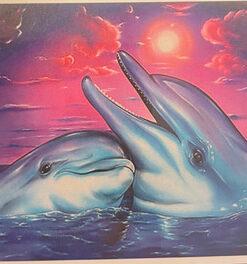Diamond painting sær / Delfiner