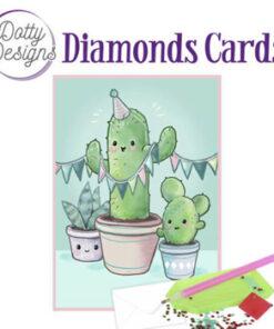 Diamond card / Kaktus / 10 x 15 cm