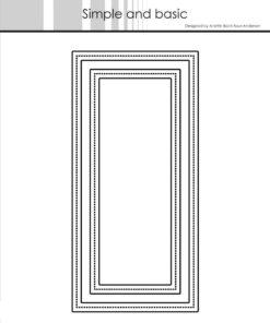 Dies / Frames - mini slimcard / Simple and Basic