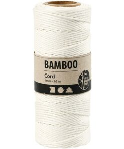 Bamboo cord / White