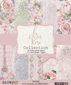 Karton 15,2x15,2 cm / La vie en rose / Reprint