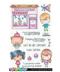 Stempel / Yum yum cupcake / C.C Design