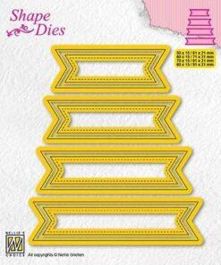 Dies / Set of 4 tags / Nellie Snellen