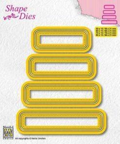 Dies / set of 4 tags - 4 / Nellie Snellen