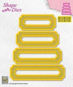 Dies / Set of 4 tags - 5 / Nellie Snellen