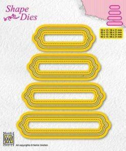 Dies / Set of 4 tags - 6 / Nellie Snellen