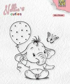 Stempel / Baby elephant with Balloon / Nellie Snellen