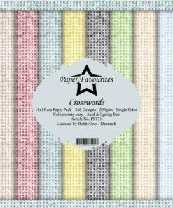 Karton 15 x 15 cm / Crosswords / Paper favourites