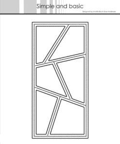 Dies / Wonky windows mini slimcard / Simple and Basic