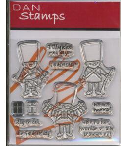 Stempel / garder tillykke / Dan stamps