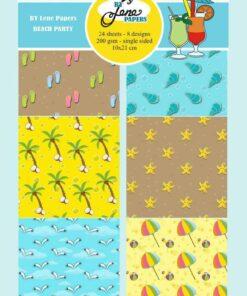 Karton slimcard / Beach Party / By Lene