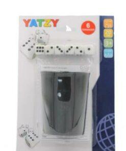 Yatzy m/6terninger, bæger + yatzyblok