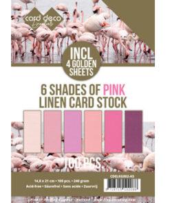 Karton linnen, Pink A5 / Pk. med 100 ark
