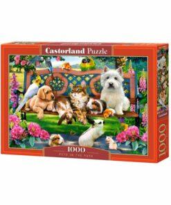 Puzzlespil / Dyr på parkbænk, 1000 brikker