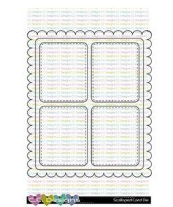 Dies / Scalloped card base / C.C Design