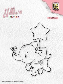 Stempel / Elephant with star / Nellie Snellen